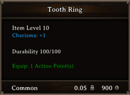 DOS Items CFTX 10.5 Tooth Ring