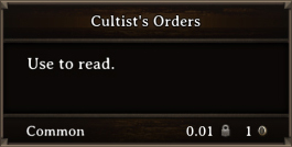DOS Items Books Cultist's Orders