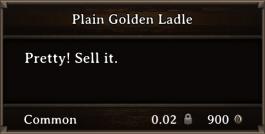 DOS Items Precious Plain Golden Ladle