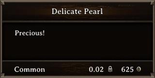 DOS Items Precious Delicate Pearl Stats
