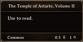 DOS Items Books The Temple Of Astarte, Volume II