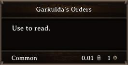 DOS Items Books Garkulda's Orders