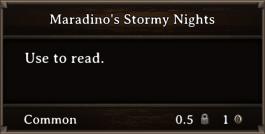DOS Items Books Maradino's Stormy Nights