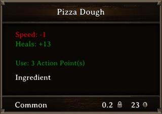 DOS Items Food Pizza Dough Stats