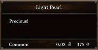 DOS Items Precious Light Pearl Stats