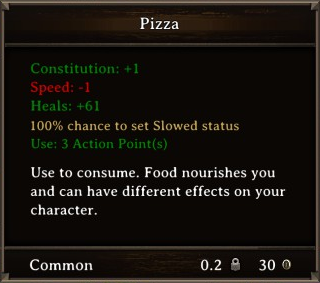 DOS Items Food Pizza Stats