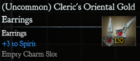 Cleric's Oriental Gold Earrings
