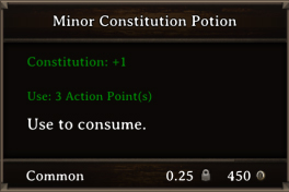 DOS Items Pots Minor Constitution Potion