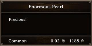 DOS Items Precious Enormous Pearl Stats