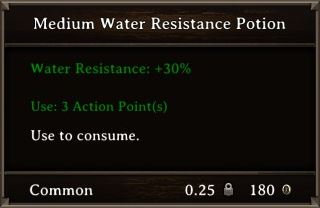 DOS Items Pots Water Resistance Potion 1 Stats