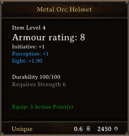 DOS Items Unique Metal Orc Helmet