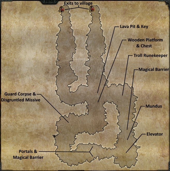 Divinity 2 High Hall Mines map