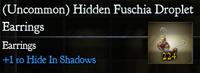 Hidden Fuschia Dropplet Earings