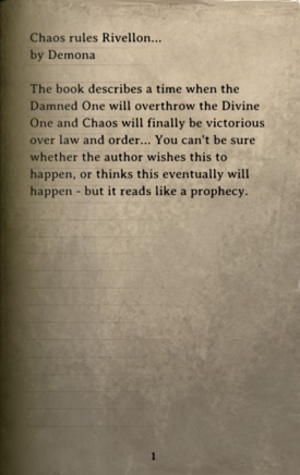 DOS Items Books Chaos Rules Rivellon Page