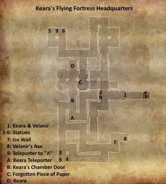 Divinity 2 Keara's Flying Fortress headquarters map