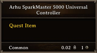 DOS Items Quest Arhu SparkMaster 5000 Universal Controller Stats