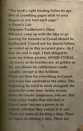 DOS Items Books A Pirate's Life Page1