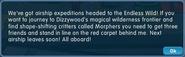 Character airship clerk text
