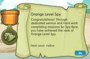 Badge spy level 1 orange