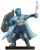 male genasi miniature with armor, sword and shield