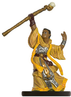 male human miniature with robe and staff