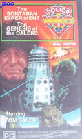 Sontaran experiment genesis of the daleks cassette 1 australia vhs