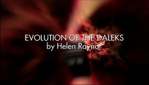 Evolution of the daleks