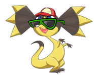 Helioptile as a talking pokemon (1)