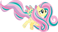 Rainbow power fluttershy by whizzball2-d7i5ksw