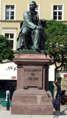 Plik:Aleksander Hr. Fredro pomnik.jpg