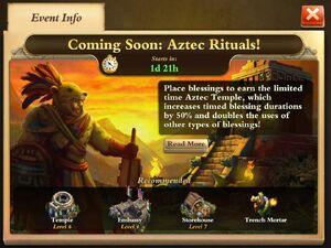 Aztec Rituals event