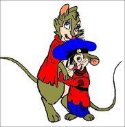 Mrs Brisby and Fievel by Takineko