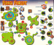 Fungi forest map
