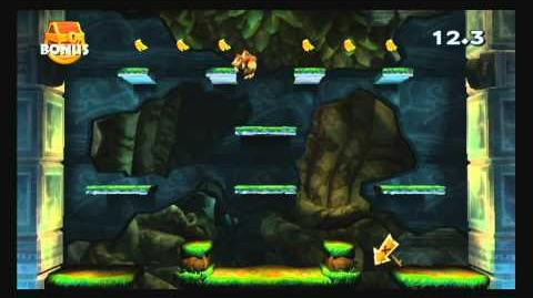 Donkey Kong Country Returns ~ World 1-3 (Tree Top Bop) Puzzle Piece K-O-N-G Letters Guide