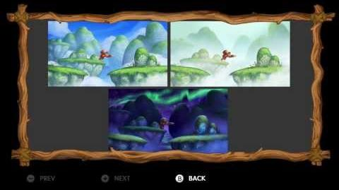 Donkey Kong Country Tropical Freeze - Level 7-1 Levitation Station All Puzzle Pieces