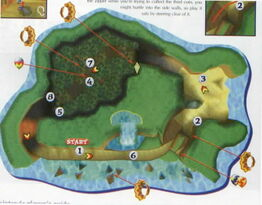 Treasure caves map