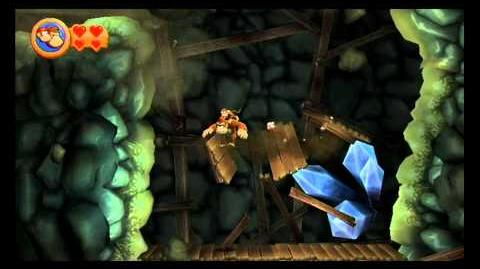 Donkey Kong Country Returns ~ World 4-1 (Rickety Rails) Puzzle Piece K-O-N-G Letters Guide