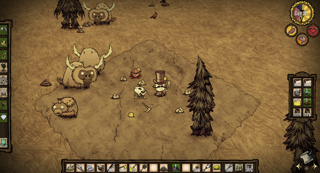 File:Don't Starve Miner's Camp with 3 Treeguards.PNG