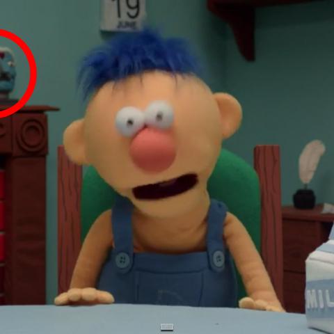Malcolm's cameo in Don't Hug Me I'm Scared 4.