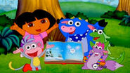Dora and friends reading book