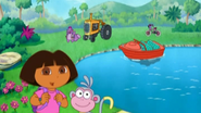 Tico finds a boat, tractor and a bike