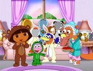 Dora boots swiper having a sleepover by fucciflakes-d5fwpk2