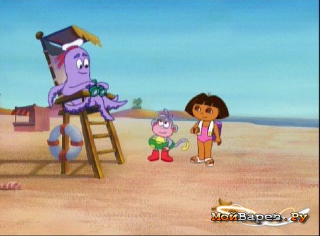 Image - At the beach with Val the octopus.jpeg | Dora the ...