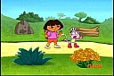 Dora and Boots looking for Baby Blue Bird