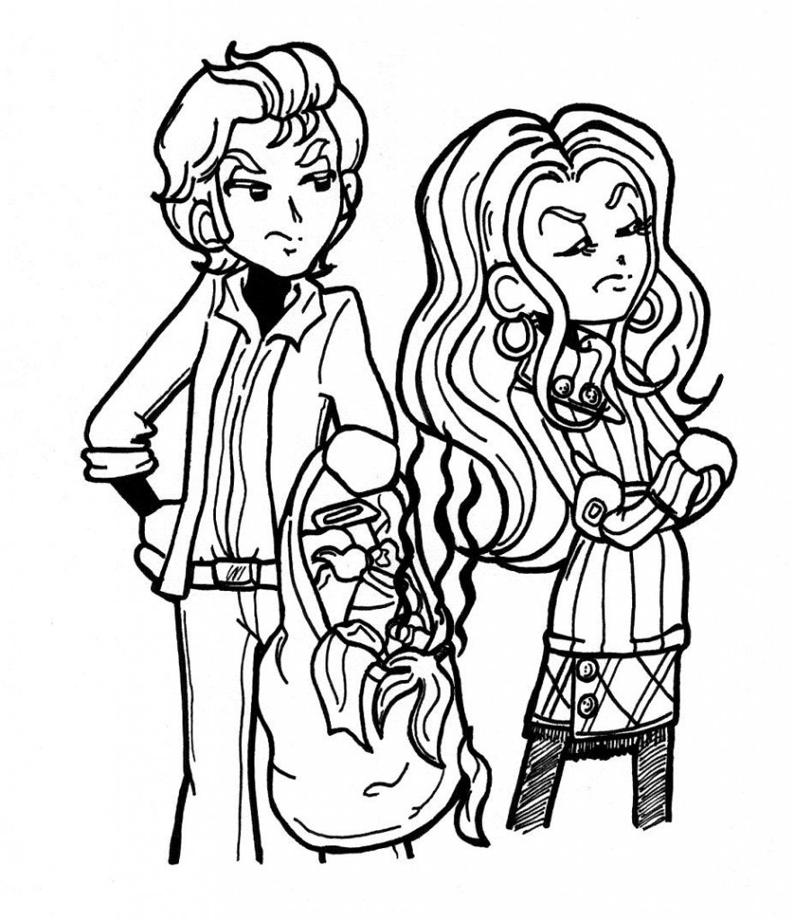 Coloring pages for dork diaries - Pat And Mackenzie1 883x1024
