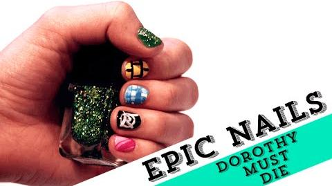 Nail Art Tutorial Inspired by The Wicked Will Rise EpicReadsNailArt
