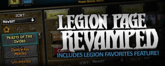 Scroller legion page revamp