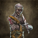 One armed zombie