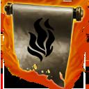 Lesser flamedart scroll