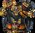 Chest black monkey warrior